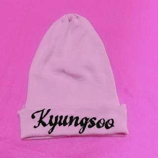 Pink beanie hat kyungsoo exo