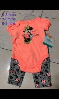 Disney Baby romper cum cute pant set