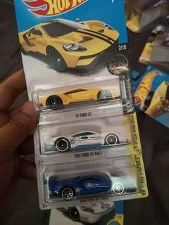 Hot Wheels Ford GT lot of 3