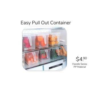 Easy Pull Out Fridge Container Storage