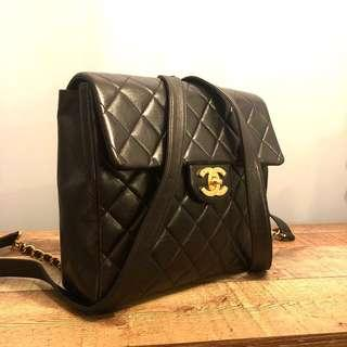 Authentic Chanel Backpack w 24k Gold Hardware Bag