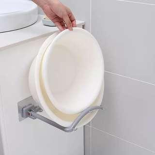 廚房浴室無痕貼放鍋蓋面盤架