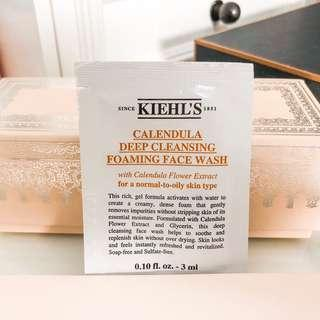 Kiehls celendula deep cleansing foaming wash sample • travel friendly 3ml • for normal to oily skin type