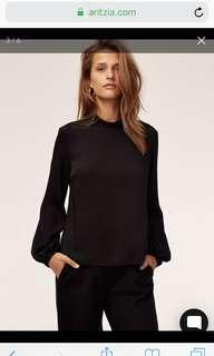 Aritzia Granados Blouse in Black Size Small