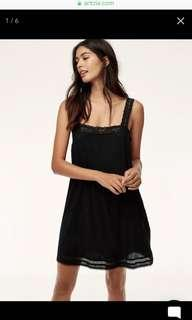 Aritzia Leone Dress in Black Size Small
