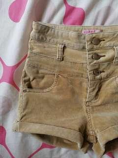 Supre Brown High Waisted Shorts for PETITES