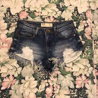 Cotton On Ripped Denim Shorts