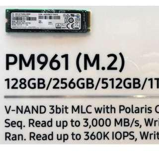 512Gb Samsung PM961 NVME M.2 SSD