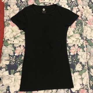 Cotton On Plain Black Body Fitting Top