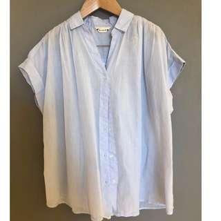 🚚 【二手 9成新】日本 日系品牌 fervente 薄款 純棉 後背 蕾絲 甜美 襯衫 拼接 上衣