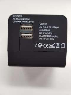 Travel Adaptor with Dual USB