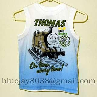 Thomas & Friends Boys Singlet Blue & White Blue Engine No 1 On time every time -- 00275