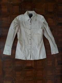 Bayo Beige Button Up Blouse
