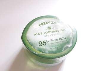Missha premium aloe soothing gel 95% from jeju