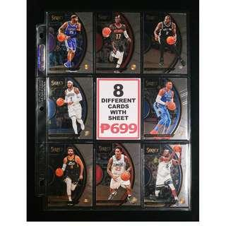 Panini 8 Different Great Select Basketball Cards