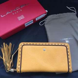 二手正貨 Lancel zip wallet