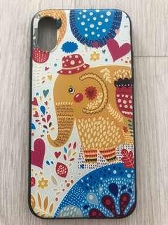 IPhone X case cute Korean embossed edge protection