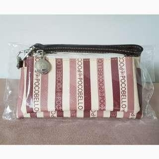 PocoBello Purse Wristlet Leather Pouch Clutch - great as Christmas gift