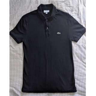 Lacoste Slim Fit Black Polo Size 4 (M size)