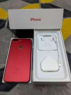 Iphone 7 Plus 256GB Red LL Set