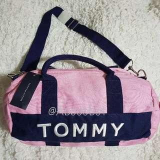 RESTOCKED! TOMMY HILFIGER HARBOR POINT MINI DUFFLE BAG IN PINK CADILLAC