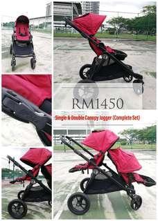 Double Stroller Jogger City Select (Tandem Stroller)