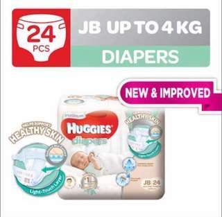 FREE 24pcs Huggies pampers( for parent or parent to be only)