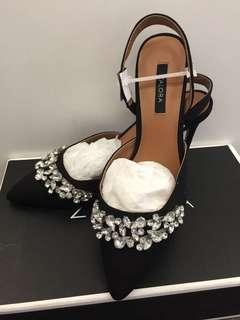 Jimmy Choo style high heel black and bling bling shoes party shoes Xmas annual dinner