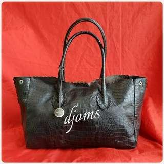 ✔Furla Croc Black Tote Bag