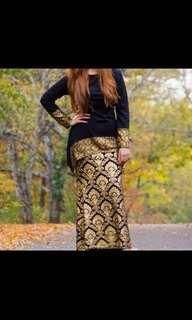 Black Gold Long skirt