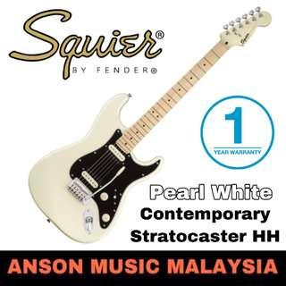 Squier Contemporary Stratocaster HH Electric Guitar, Pearl White