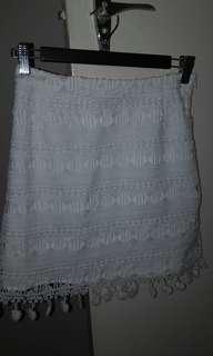 Noughts & crosses skirt