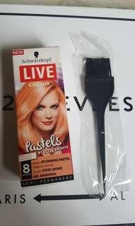 Schwarzkopf Live Colour Pastel Peach + Hair Dye Brush