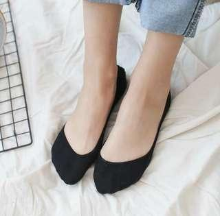Bamboo Low Cut Invisible Socks Black Beige