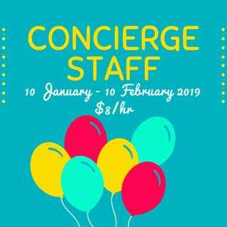 Looking for: Shopping Mall Concierge Staff || 10 January - 10 February 2019 || $8/hr