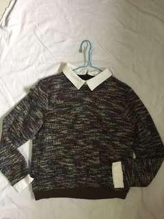 peterpan collar knit top