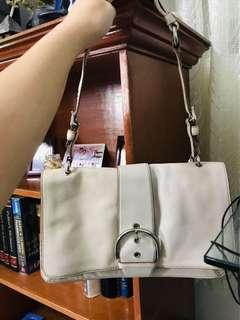 Authentic Coach bag with papers