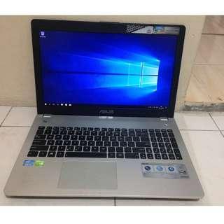 Laptop Gaming dan Desain Asus N56V Core i7 Ram 8GB Hdd 1000GB Nvidia GeForce GT 740M 2GB