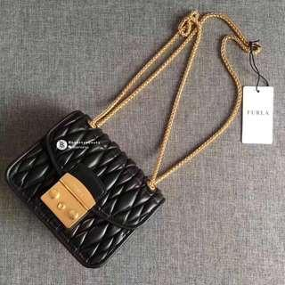 NEW✨Furla Metropolis Quilted Nappa Leather - Black
