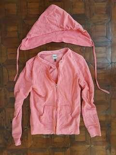 Coral Sweater with Detachable Hood