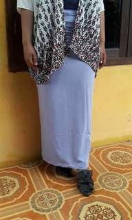 Skinny skirt / rok span lavender