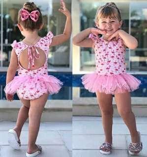 Flamingo Newborn Baby Girl Swimsuit Swimwear Bathing Suit Beachwear Fashion Baby Girl Print Swimwear Baby Clothing