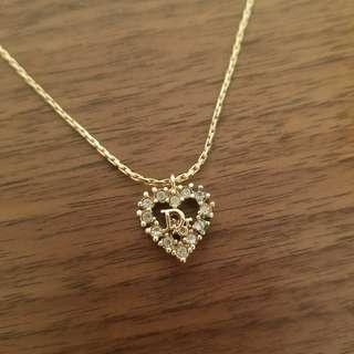 95%New Christian Dior Heart Shape Necklace
