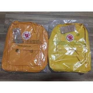 Kanken Bag Backpack in Warm Yellow / Light Yellow / Mustard Yellow [Instock!!]
