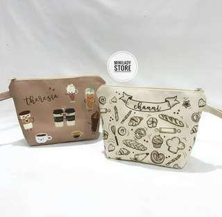 Pouch coffee lover personalized name