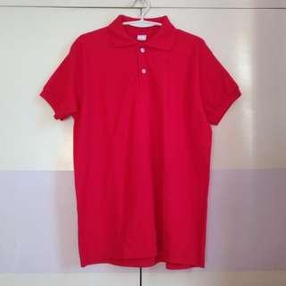 Unisex Red Polo Shirt (Medium)