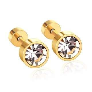 Hypoallergenic Screwcap Earrings for Kids /Adults