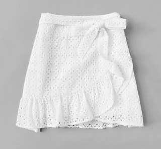 BN Crochet White Skirt