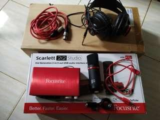 Scarlett 2i2 Studio - Home Recording