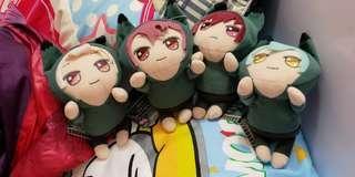 最新日本景品 偶像星願idolish7 Zool一套4隻 趴趴公仔吊飾